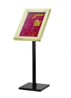 Freestanding Visage Menu Sign